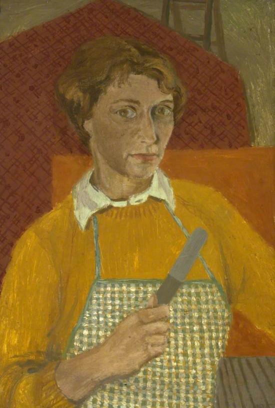 1951, oil on cardboard by Barbara Balmer (1929–2017)