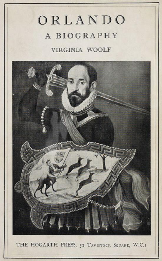 Cover of the original copy of Virginia Woolf's 'Orlando: A Biography'
