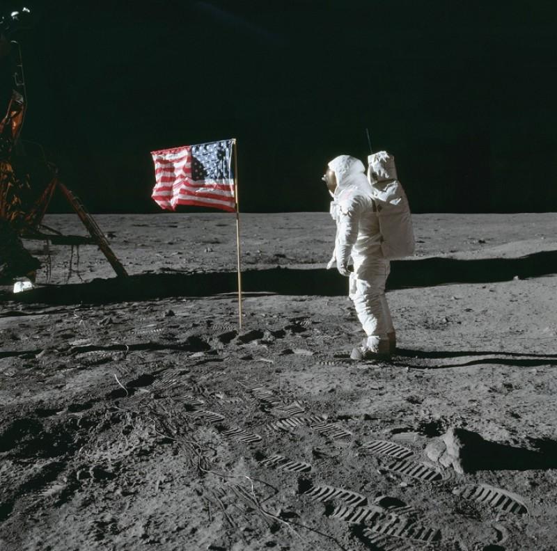 Astronaut Edwin E. Aldrin Jr, lunar module pilot of the first lunar landing mission
