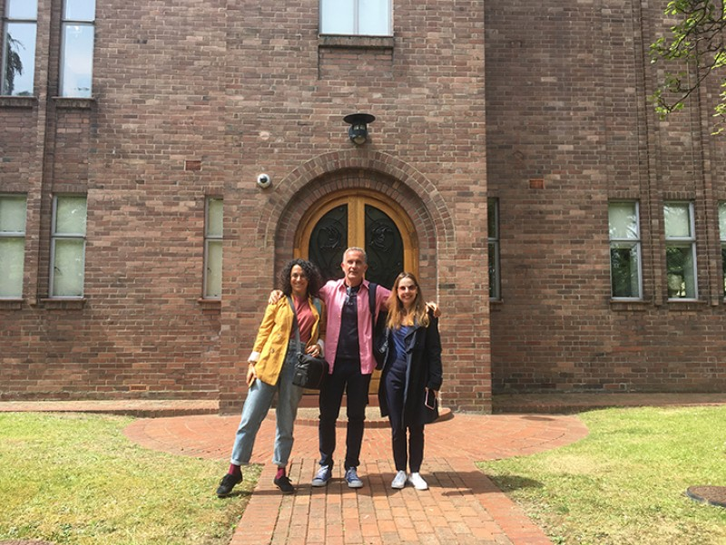 Anna, Giannis and Fani visiting Dorich House Museum