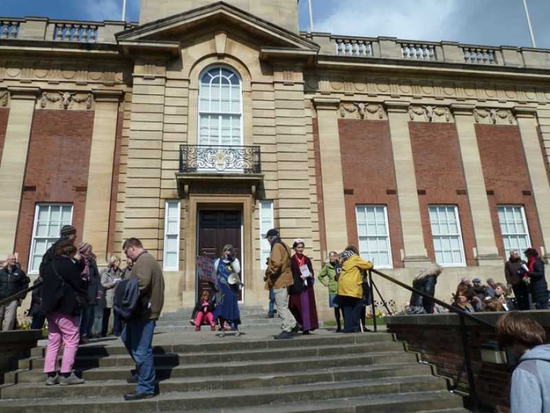 The art march at Usher Gallery, Lincoln in April 2019