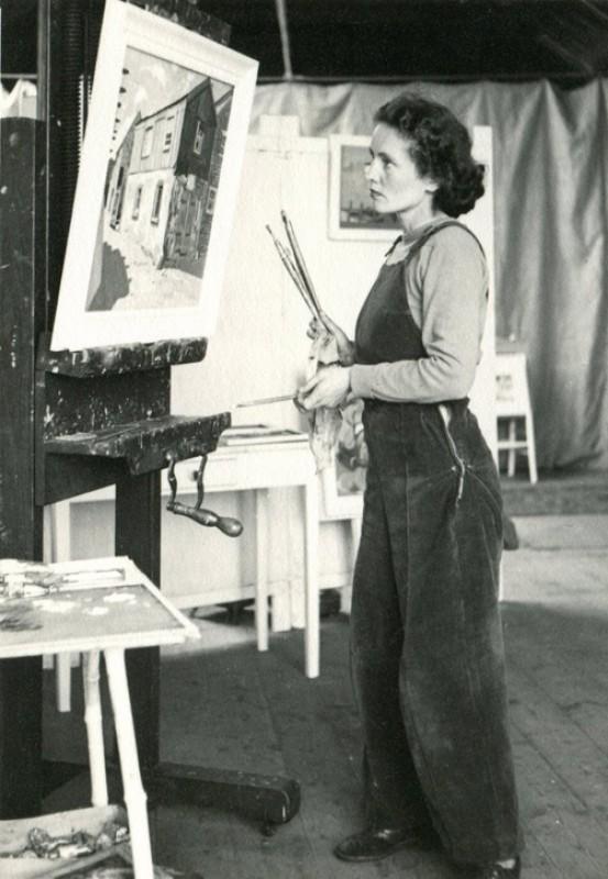 1947, photograph by Wilhelmina Barns-Graham (1912–2004) at No. 1 Porthmeor Studio, St Ives