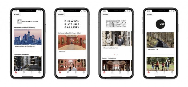 Four guides on the Bloomberg Connects app